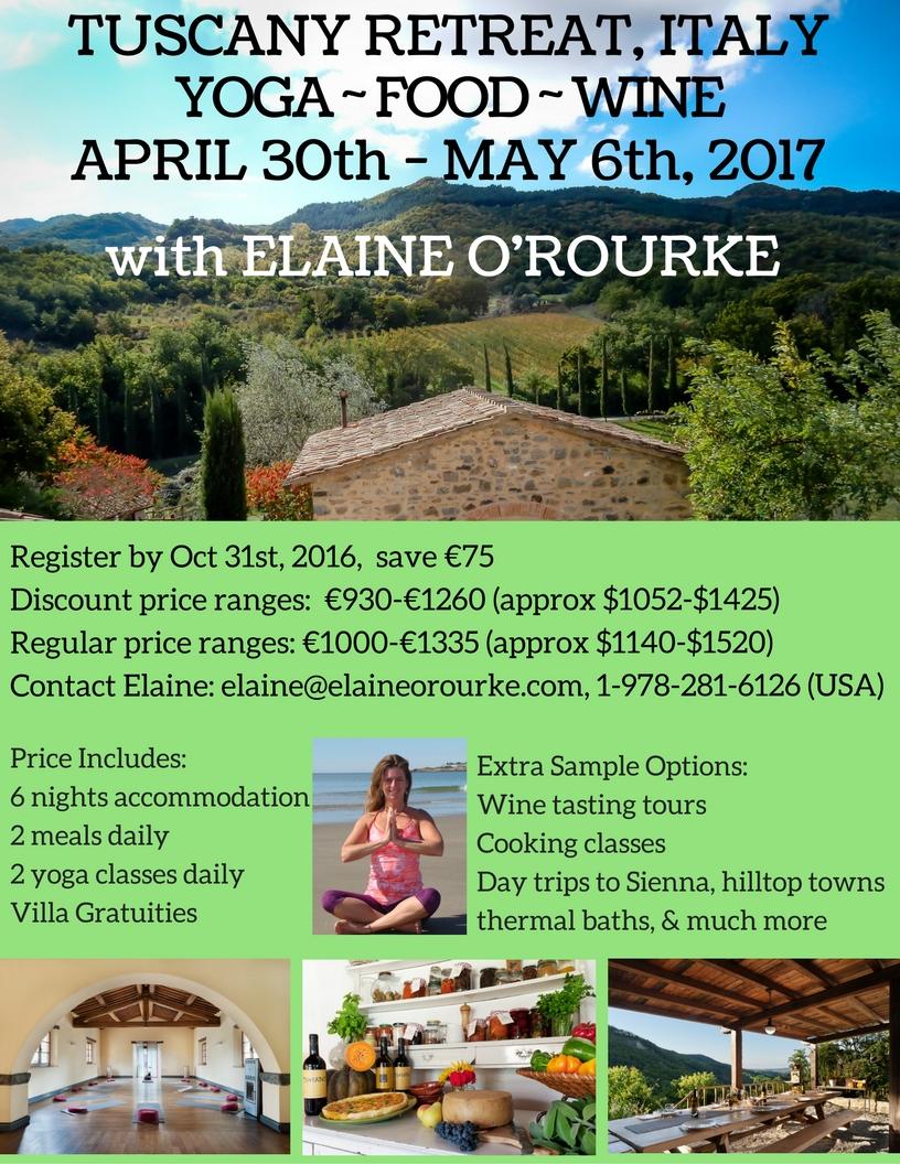 Elaine O Rourke Tuscany Italy April 30th May 6th 2017 Elaine O Rourke